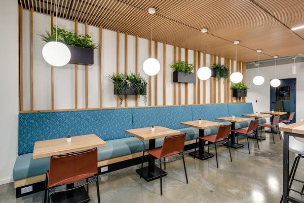 Gather Newport News cafe area
