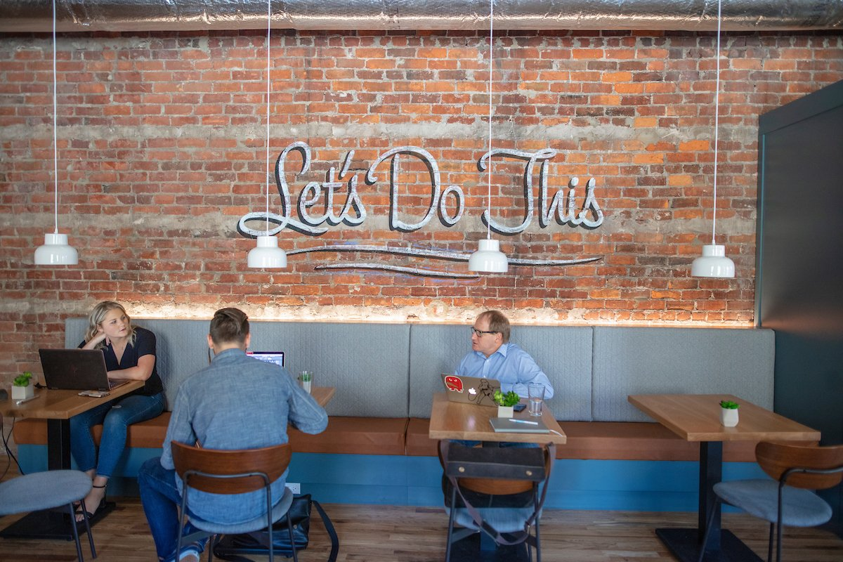 Gather Arts District cafe seating photo