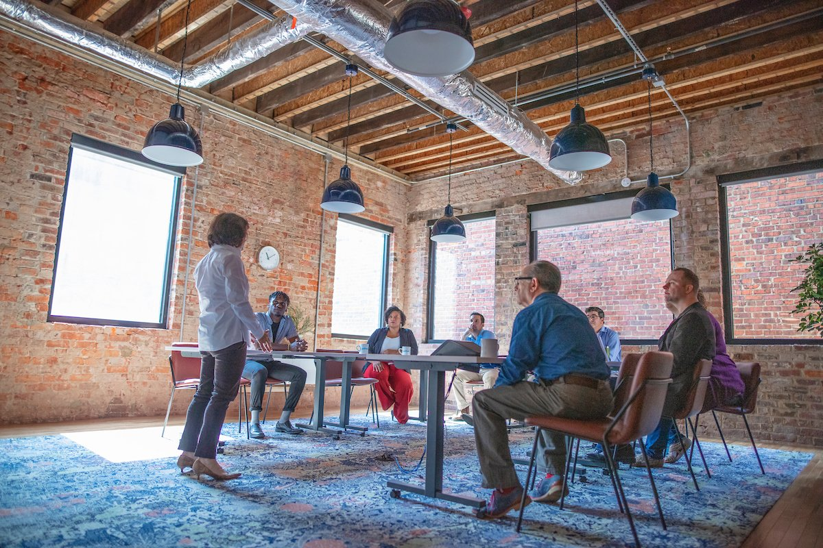 Gather Arts District large conference room